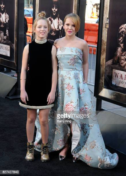 Actresses Lulu Wilson and Talitha Bateman attend the premiere of New Line Cinema's' 'Annabelle Creation' at TCL Chinese Theatre on August 7 2017 in...