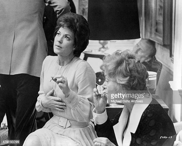 Actresses Lynn Carlin and Audra Lindley in a scene from the Universal Studio movie Taking Off circa 1971