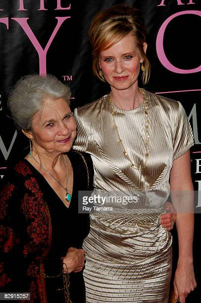 Actresses Lynn Cohen and Cynthia Nixon attend the the Sex and the City The Movie DVD launch at the New York Public Library on September 18 2008 in...