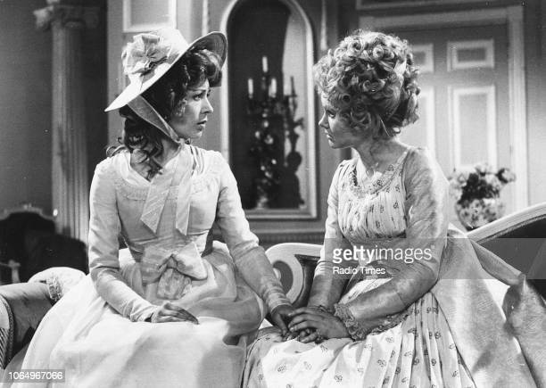Actresses Lynn Farleigh and Jennie Linden in a scene from the BBC Play of the Month 'The Rivals' February 8th 1970