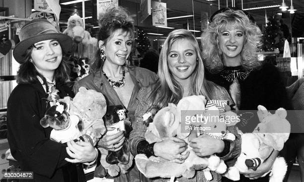 Actresses Lysette Anthony and Sally Farmiloe page three girl Suzanne Mizzi and comedienne Ellie Laine Actress Sally Farmiloe today Monday 20th...