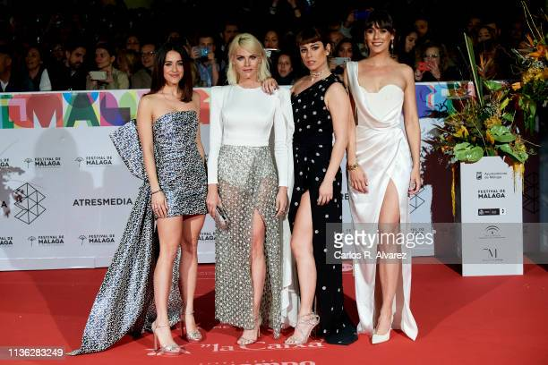 Actresses Macarena Garcia Amaia Salamanca Blanca Suarez and Belen Cuesta attend 'Esto no es Berlin' premiere during the 22th Malaga Film Festival on...