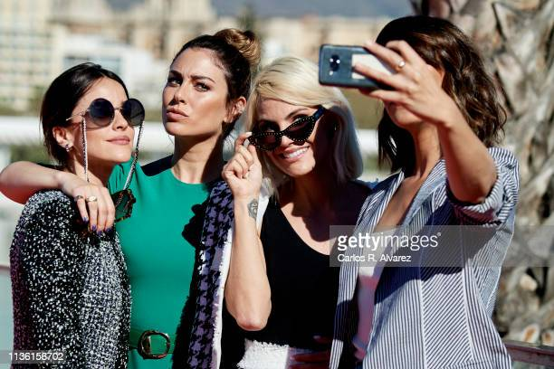 Actresses Macarena Garcia Blanca Suarez Amaia Salamanca and Belen Cuesta attend 'A Pesar de Todo' photocall dureing the 22th Malaga Film Festival on...