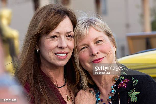 Actresses Mackenzie Phillips and Candy Clark attend the Academy of Motion Picture Arts and Sciences Celebrates the 40th Anniversary Of American...