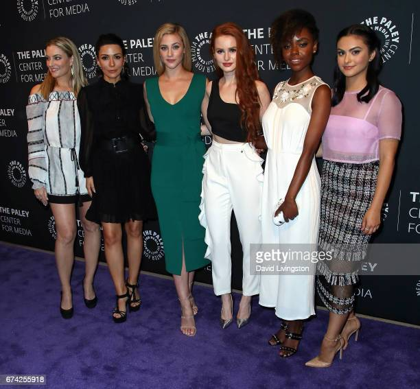 Actresses Madchen Amick Marisol Nichols Lili Reinhart Madelaine Petsch Ashleigh Murray and Camila Mendes attend the 2017 PaleyLive LA Spring Season...