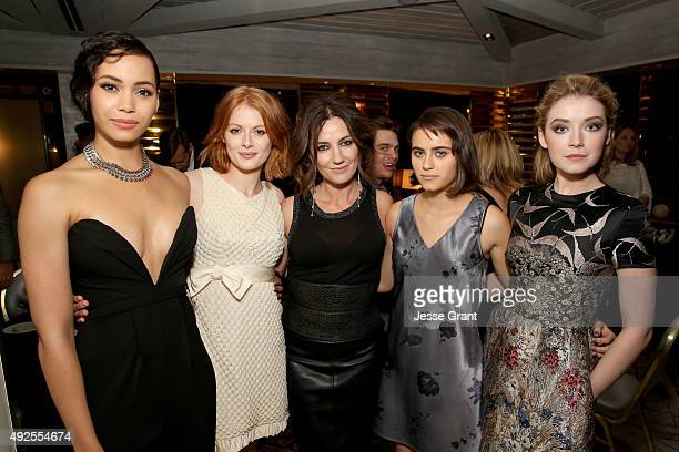Actresses Madeleine Mantock Emily Beecham Orla Brady Ally Ioannides and Sarah Bolger attend AMC's 'Into The Badlands' Premiere on October 13 2015 in...