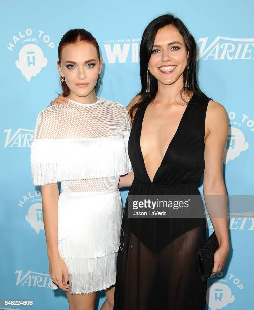 Actresses Madeline Brewer and Nina Kiri attend Variety and Women In Film's 2017 preEmmy celebration at Gracias Madre on September 15 2017 in West...