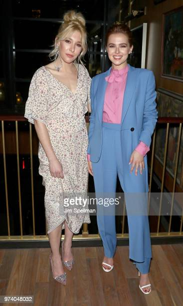 Actresses Madelyn Deutch and Zoey Deutch attend the screening after party for 'The Year Of Spectacular Men' hosted by MarVista Entertainment and...
