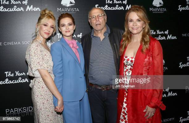 Actresses Madelyn Deutch Zoey Deutch producer Howard Deutch and director/actress Lea Thompson attend the screening of 'The Year Of Spectacular Men'...