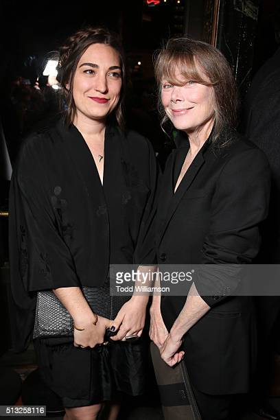 Actresses Madison Fisk and Sissy Spacek attend the premiere of Broad Green Pictures' Knight Of Cups on March 1 2016 in Los Angeles California