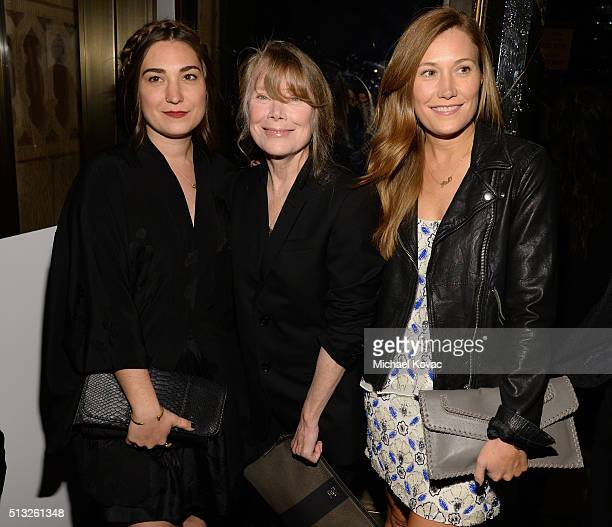 Actresses Madison Fisk Sissy Spacek and Schuyler Fisk attend the Los Angeles Premiere Of Broad Green Pictures' Knight Of Cups on March 1 2016 in Los...