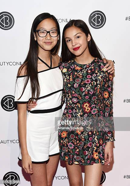 Actresses Madison Hu and Olivia Rodrigo arrive at the 4th Annual Beautycon Festival Los Angeles at the Los Angeles Convention Center on July 9 2016...