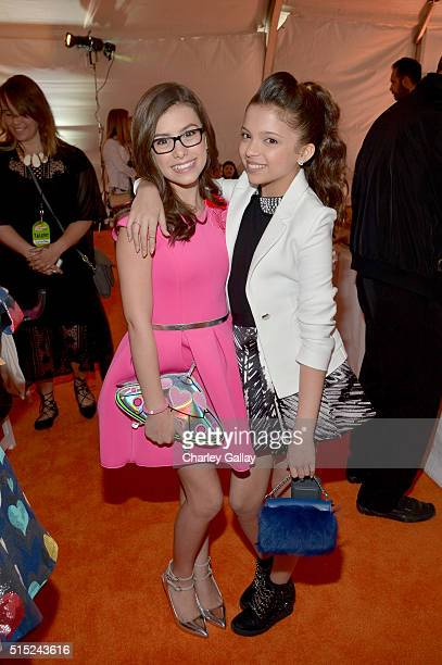 Actresses Madisyn Shipman and Cree Cicchino attend Nickelodeon's 2016 Kids' Choice Awards at The Forum on March 12 2016 in Inglewood California
