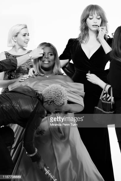 Actresses Mae Whitman Retta and Christina Hendricks are photographed for Emmy Magazine on March 15 2019 in Los Angeles California