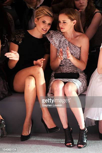 Actresses Maggie Grace and Alexis Bledel attend the Monique Lhuillier Spring 2011 fashion show during MercedesBenz Fashion Week at The Stage at...