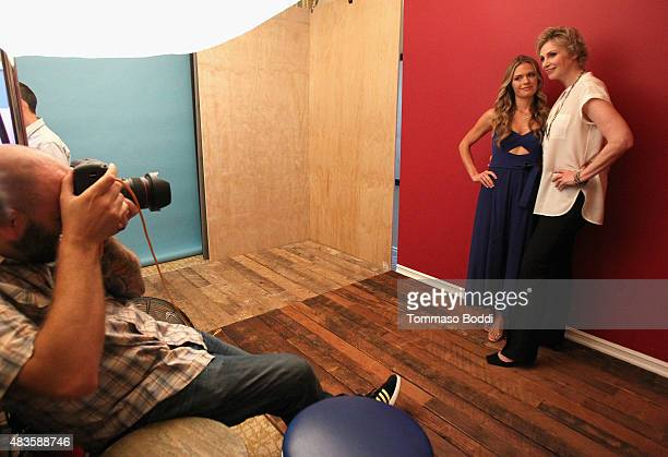 Actresses Maggie Lawson and Jane Lynch of CBS's 'Angel from Hell' attend Behind The Scenes Of The Getty Images Portrait Studio Powered By Samsung...