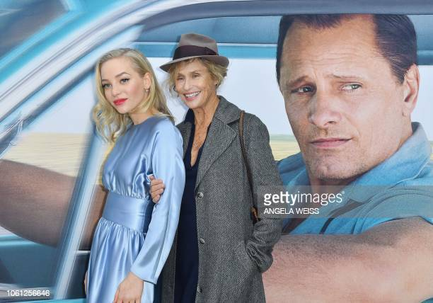 Actresses Maggie Nixon and Lauren Hutton attend the Premiere of 'Green Book' at The Paris Theatre on November 13 2018 in New York City
