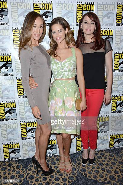 Actresses Maggie Q Lyndsy Fonseca and Melinda Clarke attends 'Nikita' during ComicCon International 2012 held at the Hilton San Diego Bayfront Hotel...