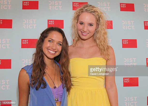 Actresses Maiara Walsh and Molly McCook attend Variety's Power of Youth presented by Cartoon Network held at Paramount Studios on September 15 2012...