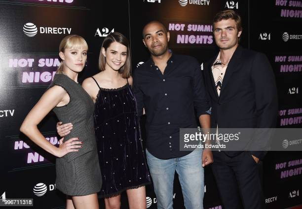 Actresses Maika Monroe and Maia Mitchell writer and director Elijah Bynum and actor Alex Roe arrive at the Los Angeles special screening of 'Hot...
