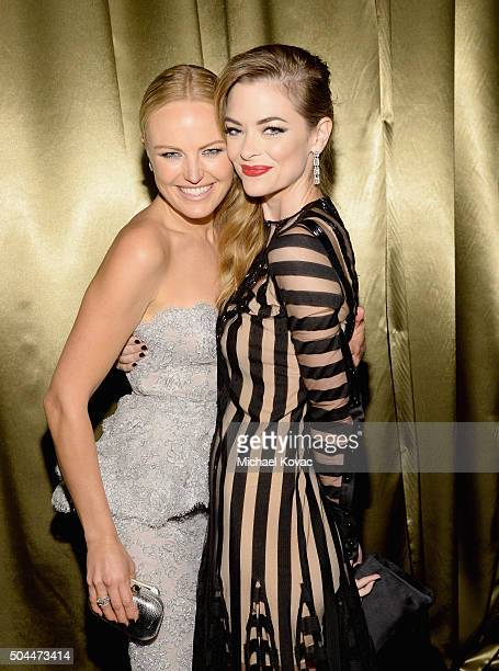 Actresses Malin Akerman and Jaime King attend The Weinstein Company's 2016 Golden Globe Awards After Party at The Beverly Hilton Hotel on January 10...