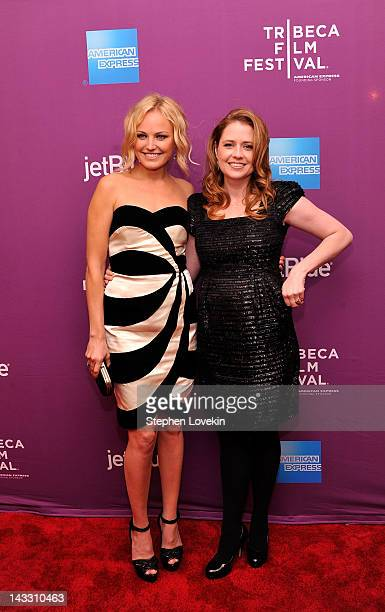 Actresses Malin Akerman and Jenna Fischer attends Giant Mechanical Man Premiere during the 2012 Tribeca Film Festival at the School of Visual Arts...