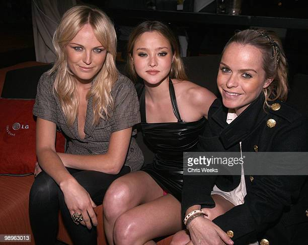 """Actresses Malin Akerman, Devin Aoki and Taryn Manning attend a party for """"Haute & Bothered"""" Season 2 hosted by LG Mobile at the Thompson Hotel on May..."""