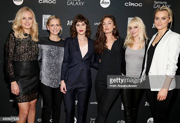 Actresses Malin Akerman, Sarah Michelle Gellar, Lizzy Caplan, Alexa Davalos, Anna Faris and Taylor Schilling attend Variety Awards Studio - Day 1 at...