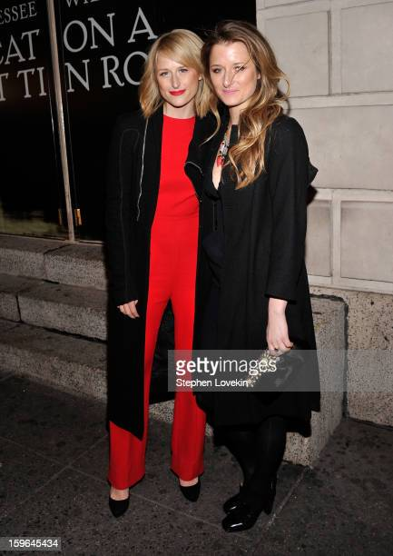 Actresses Mamie Gummer and Grace Gummer attend the 'Cat On A Hot Tin Roof' Opening Night at Richard Rodgers Theatre on January 17 2013 in New York...