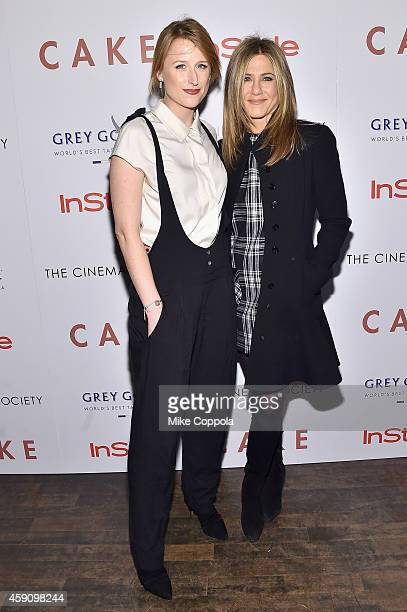 Actresses Mamie Gummer and Jennifer Aniston attend the 'Cake' screening hosted by The Cinema Society Instyle at Tribeca Grand Hotel on November 16...