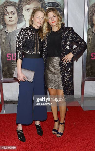 Actresses Mamie Gummer and Louisa Gummer attend the Suffragette New York premiere at The Paris Theatre on October 12 2015 in New York City