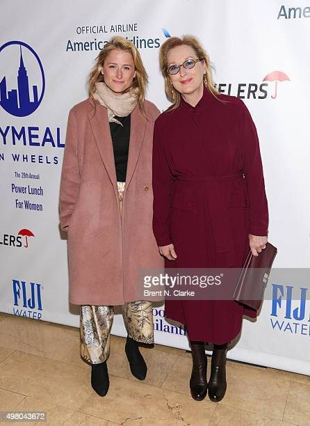 Actresses Mamie Gummer and Meryl Streep attend the CitymealsOnWheels Power Lunch for Women held at The Plaza Hotel on November 20 2015 in New York...