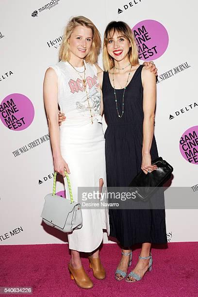 Actresses Mamie Gummer and Zoe Kazan attend BAMcinemaFest 2016 Opening Night Premiere Of 'Little Men'at BAM Harvey Theater on June 15, 2016 in New...