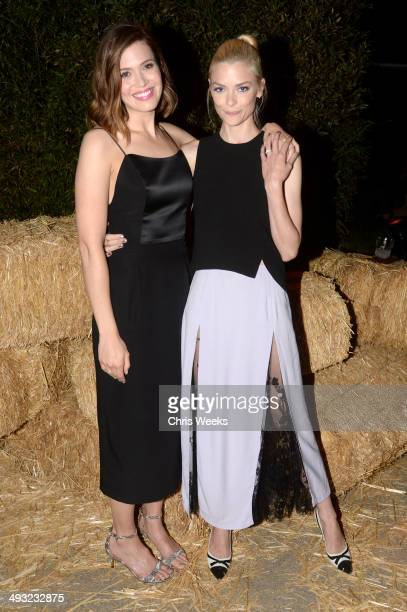 Actresses Mandy Moore and Jaime King attend the Annenberg Space for Photography Opening Celebration for Country Portraits of an American Sound at the...