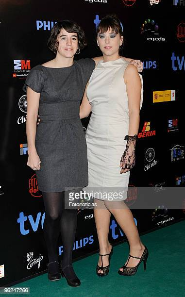 Actresses Mar Coll and Nausicaa Bonnin arrive to the ''Forque Awards 2010'' ceremony at the Palacio de Congresos on January 28 2010 in Madrid Spain