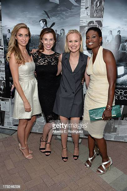 Actresses Margaret Judson Wynn Everett Alison Pill and Adina Porter arrive for the premiere of HBO's The Newsroom Season 2 at Paramount Theater on...