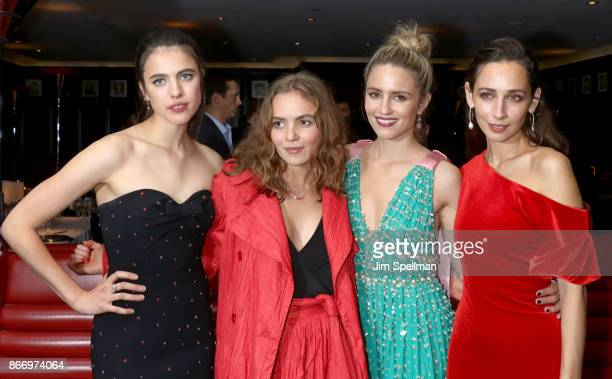 Actresses Margaret Qualley Morgan Saylor Dianna Agron and Rebecca Dayan attend the screening after party for Sony Pictures Classics' Novitiate hosted...
