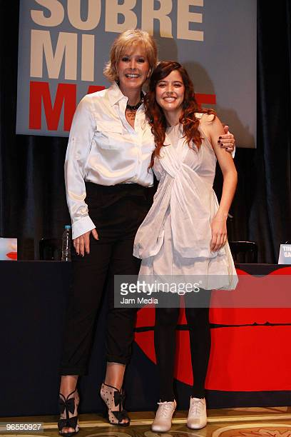 Actresses Margarita Gralia and Ana Claudia Talancon during the press conference to present the play Todo Sobre Mi Madre based on the film by Pedro...
