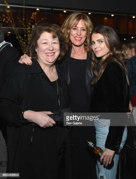 Actresses Margo Martindale Christine Lahti and Keri Russell attend 8th Annual FX AllStar bowling party at Lucky Strike on April 6 2017 in New York...
