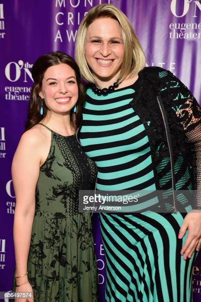 Actresses Margo Sibert and Shakina Nayfack arrive at The Eugene O'Neill Theater Centers to the Monte Cristo Awards honoring Judith Light on May 21...
