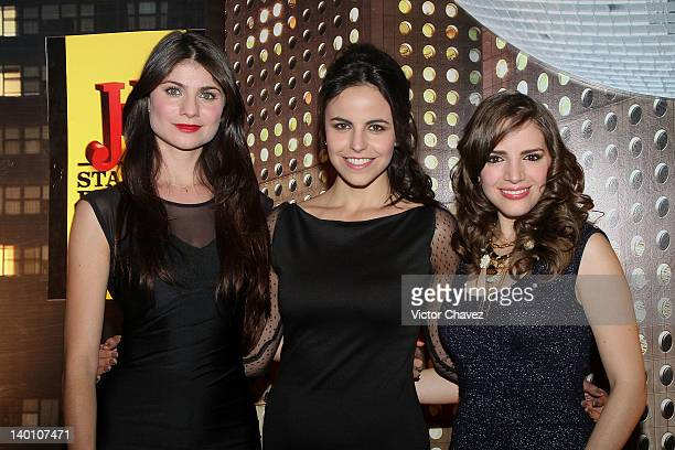 Actresses Maria Aura Alejandra Ambrosi and Elizabeth Valdez attend the JB Whisky 'Join the City Remix' party at Estacion Indianillas on February 24...