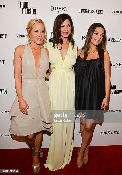 Actresses Maria Bello Mila Kunis and Moran Atias attend the Third Person Los Angeles Premiere at Pickford Center for Motion Study on June 9 2014 in...