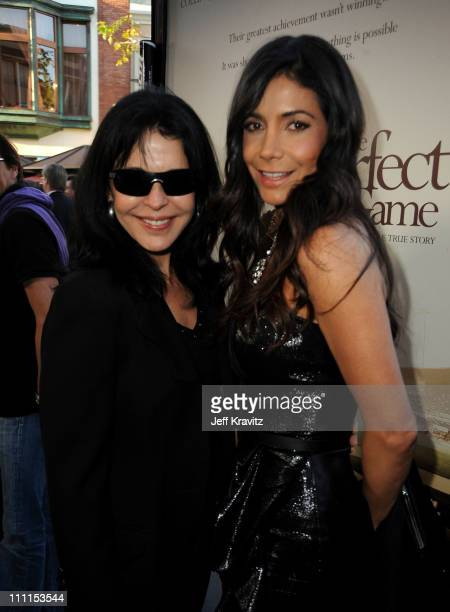 "Actresses Maria Conchita Alonso and Patricia Manterola arrive to the Los Angeles premiere of ""The Perfect Game"" in the Pacific Theaters at the Grove..."