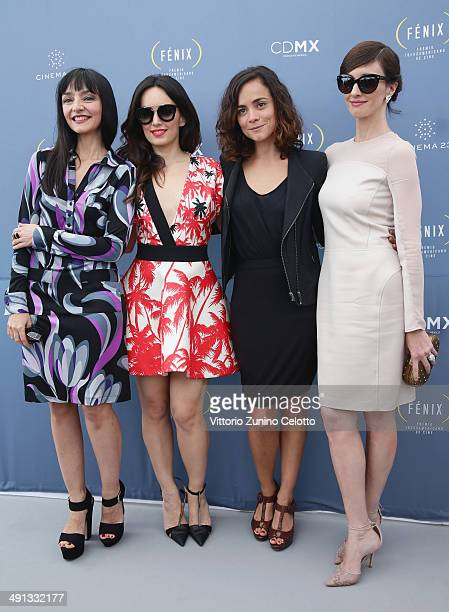 Actresses Maria de Medeiros Ana de la Reguera Alice Braga and Paz Vega attend the Fenix Film Awards at the 67th Annual Cannes Film Festival on May 16...