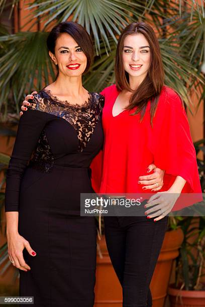 actresses Maria Grazia Cucinotta and Anna Pretei attends quot'The Tailor's Wifequot photocall in Rome