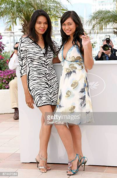 Actresses Maria Isabel Lopez and Mercedes Cabral attend the Kinatay Photocall held at the Palais Des Festivals during the 62nd International Cannes...