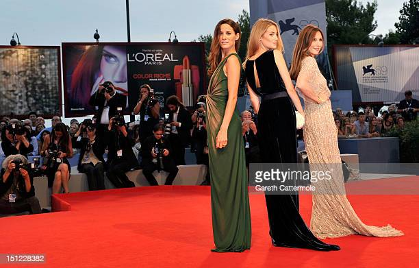 Actresses Maria Joao Bastos Victoria Guerra Elsa Zylberstein attend the 'Lines Of Wellington' Premiere during The 69th Venice Film Festival at the...