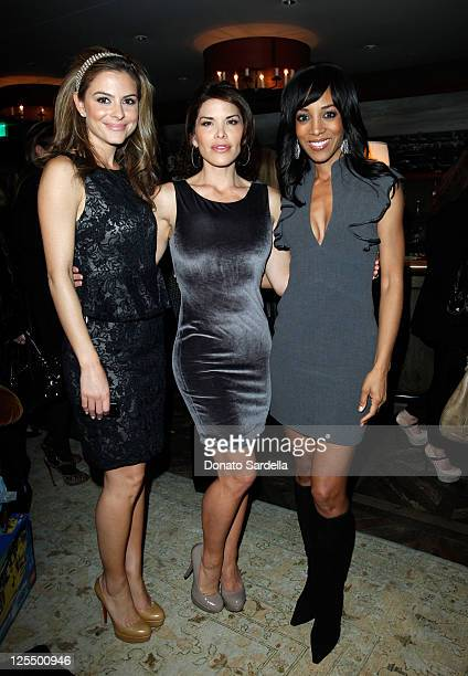 Actresses Maria Menounos Lauren Sanchez and Shaun Robinson attend the alice olivia by Stacey Bendet Holiday Party For Baby Buggy held at Soho House...