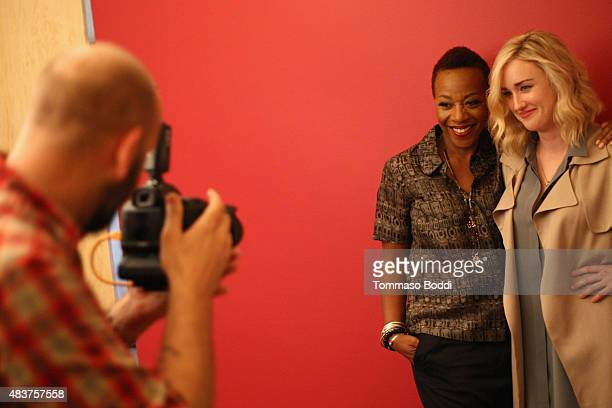 Actresses Marianne Jean-Baptiste and Ashley Johnson of NBC's 'Blindspot' attend Behind The Scenes Of The Getty Images Portrait Studio Powered By...
