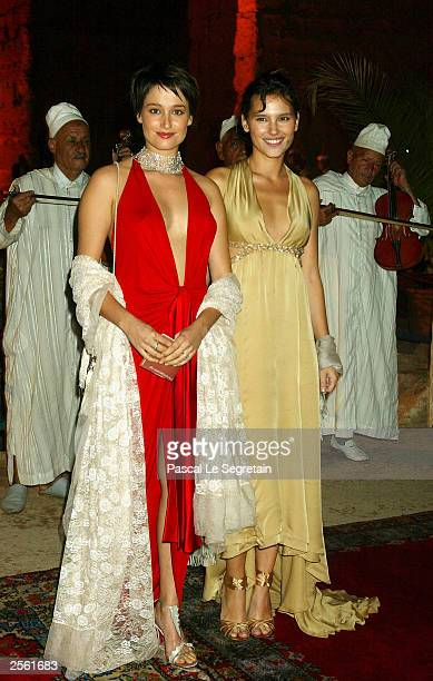 Actresses Marie Gillain and Virginie Ledoyen attend a tribute to Daniel Toscan Du Plantier during the third Marrakech Film Festival on October 4 2003...